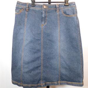 Style & Co Women's Denim Skirt 12 CL2450 1119